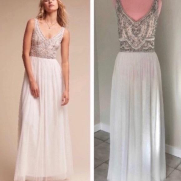 Anthropologie Dresses & Skirts - Anthropologie BHLDN White Sterling Dress NWOT